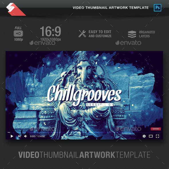 Chill Grooves - Video Thumbnail Artwork Template