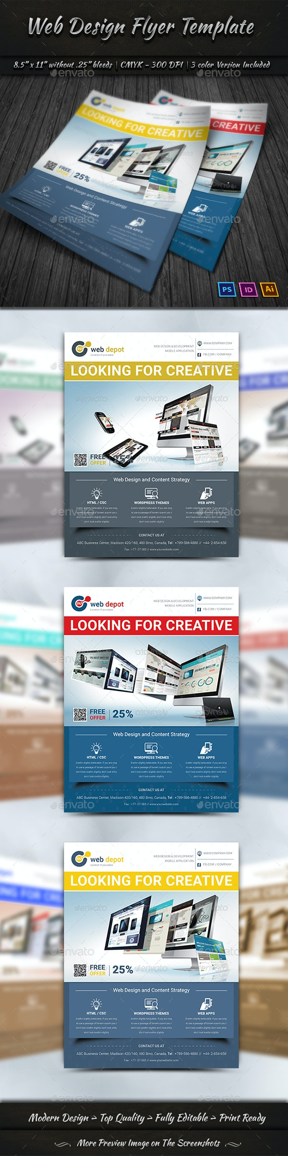 Web Design Flyer Templates - Corporate Flyers