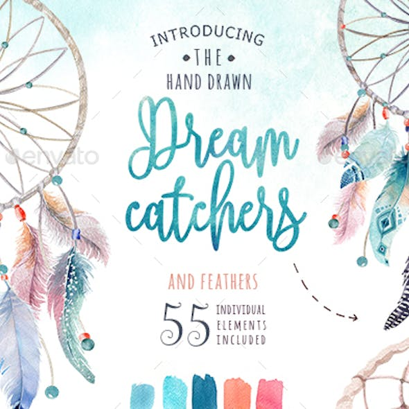 Watercolor Dreamcatchers
