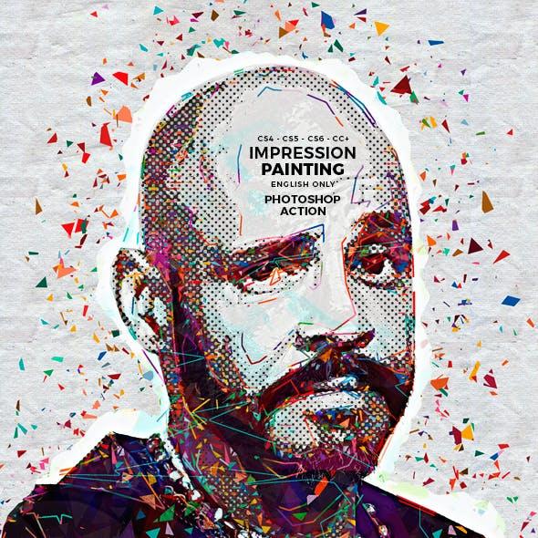 Impression Painting Photoshop Action