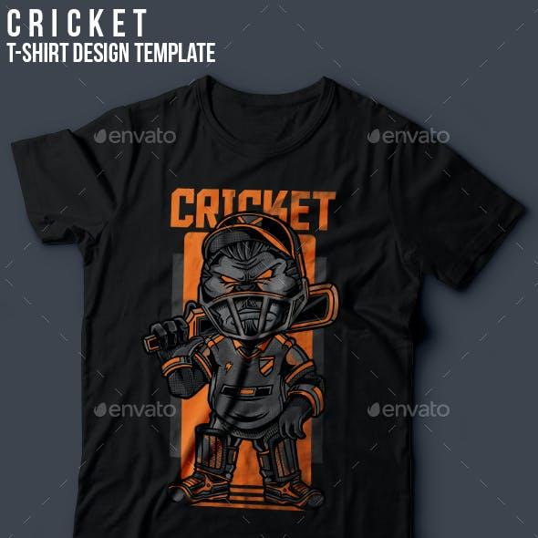 Cricket T-Shirt Design