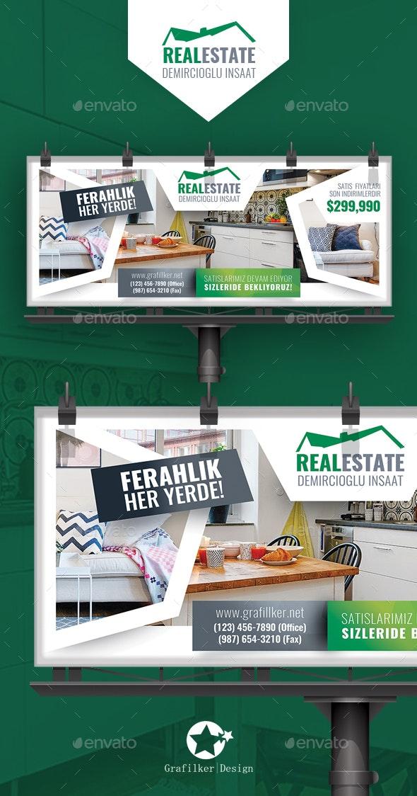 Real Estate Billboard Templates - Signage Print Templates