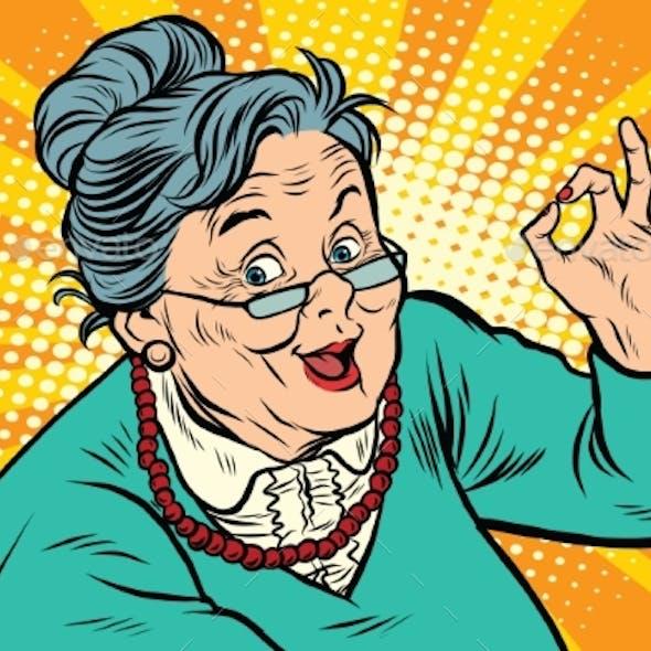 Grandma Okay Gesture