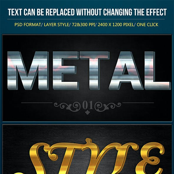 3D Metallic Text Effects V2