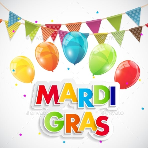 Mardi Gras Party Holiday Poster Background