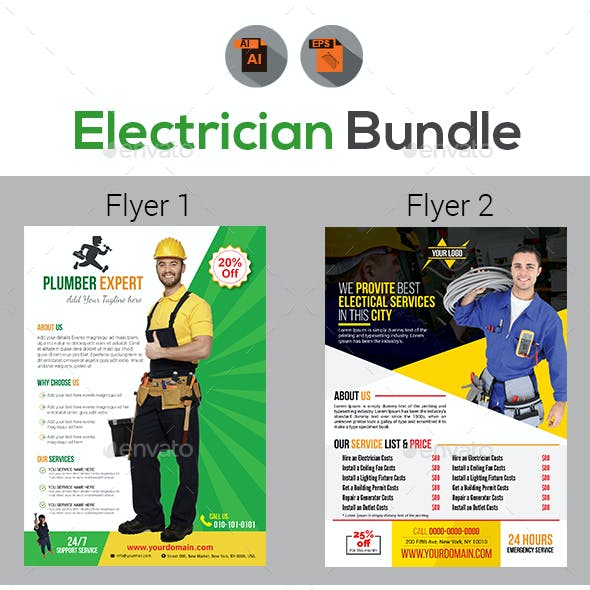 Handyman & Plumber Services Flyers Templates