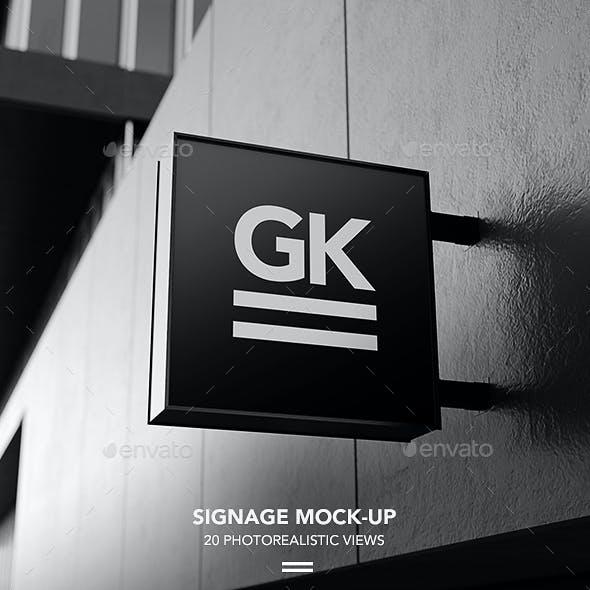 Signage Mock-up / Sign Mock-up