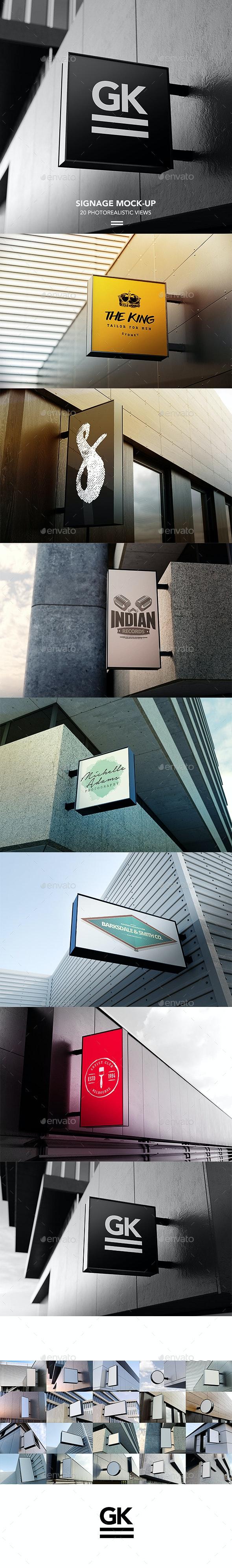 Signage Mock-up / Sign Mock-up - Signage Print