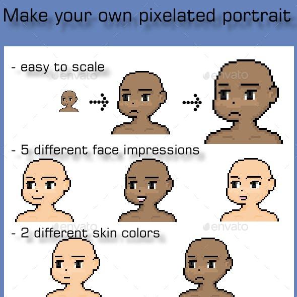 Customize Pixel Art Portrait or Avatar