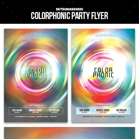 Colorphonic Party Flyer