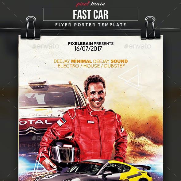 Fast Car Flyer Template