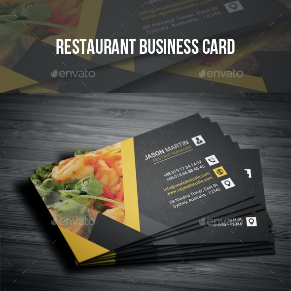 Restaurant Business Card Vector Graphics Designs Templates