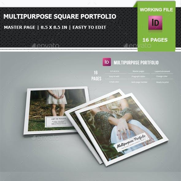 Multipurpose Square Portfolio / Brochure Template-V01