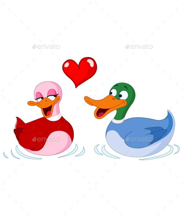 In Love Ducks - Animals Characters
