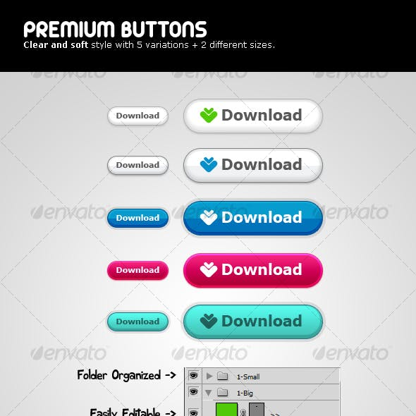 Premium Buttons - Clear & Soft style v2