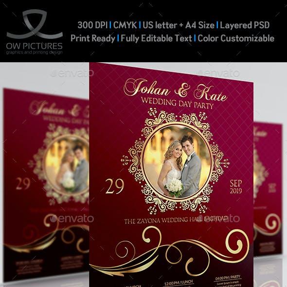 Wedding Party Flyer Template Vol.4