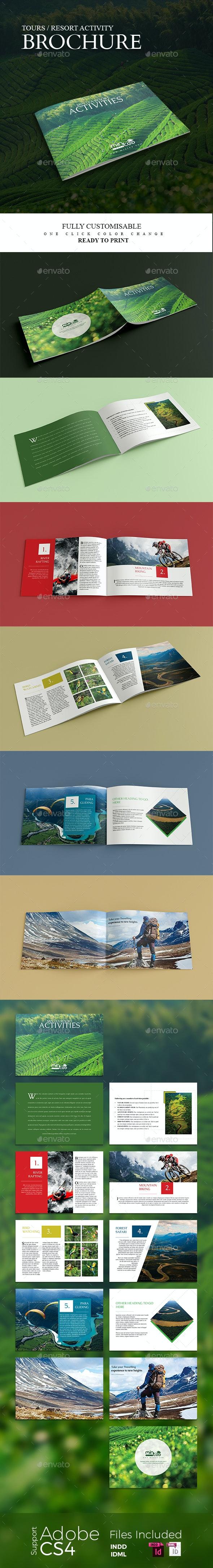 Tours Travels and Resort Activity Brochure - Informational Brochures