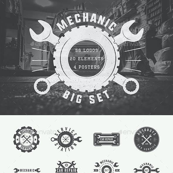 Mechanic Vintage Emblems