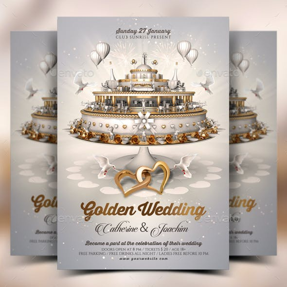 Wedding Invitation Flyer Template By Rembassio Graphicriver