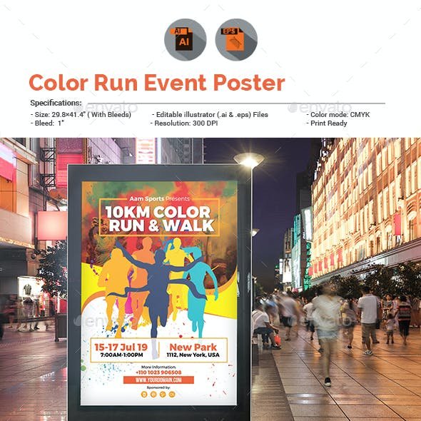Color Run Event Poster