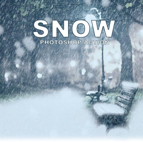 Snow - Photoshop Action #67