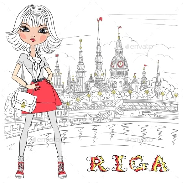 Girl in Riga Latvia