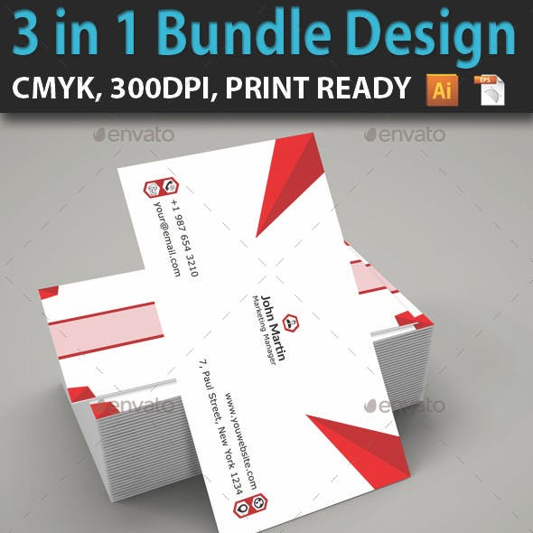 3 in 1 Bundle Business Card Design