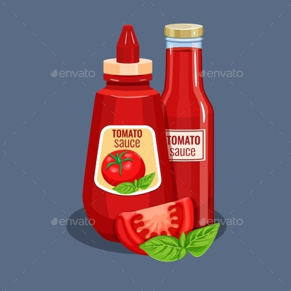 Tomato Sauce Bottle - Food Objects