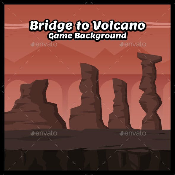 Bridge to Volcano Game Background
