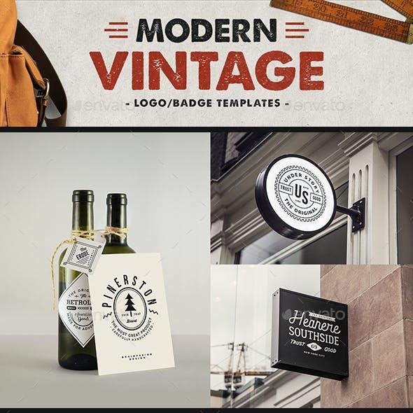 Modern Vintage Logo/Badges Collection