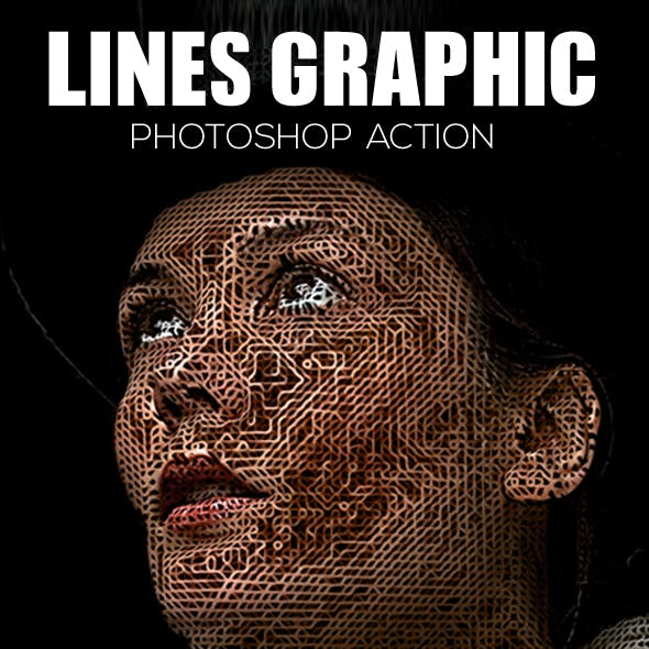 Lines Graphic Photoshop Action