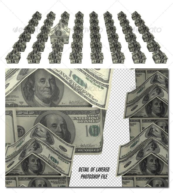 Money neighborhood - Objects 3D Renders