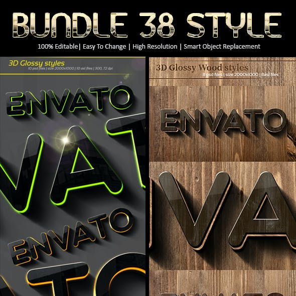 Bundle 3d Glossy Styles