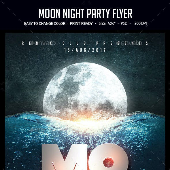 Moon Night Party Flyer