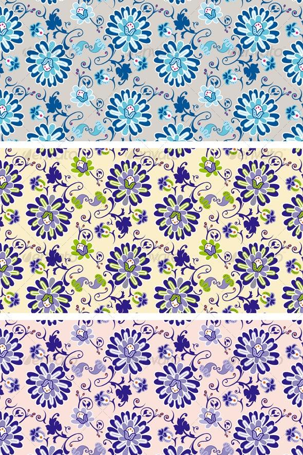 Textile vintage flowers pattern - Patterns Decorative