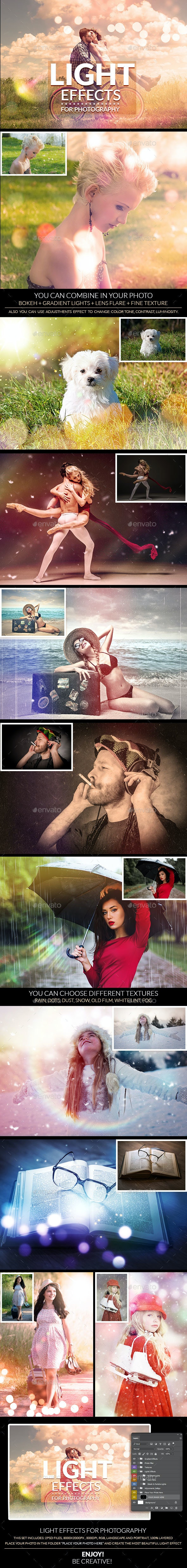 Light Effects for Photography - Photo Templates Graphics