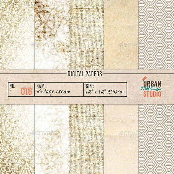 Vintage Creams Digital Backgrounds