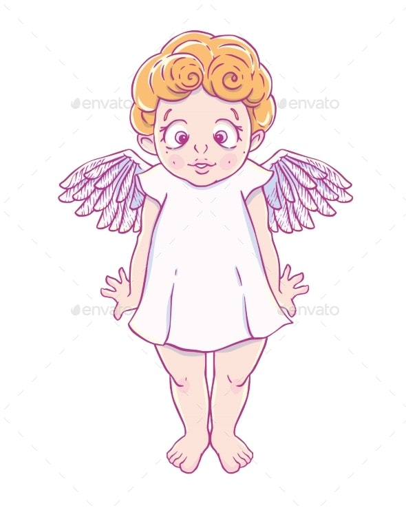 Valentine's Day Cupid-Girl in Dress - Miscellaneous Characters