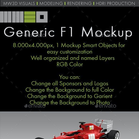 Generic F1 Car Mock Up