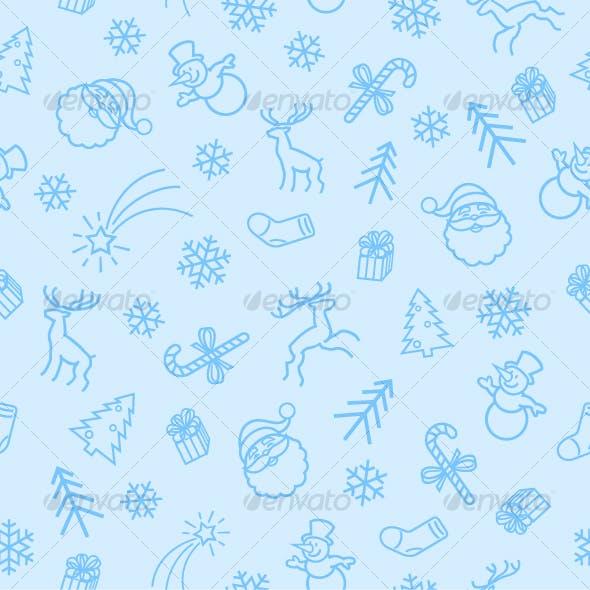 Seamless Christmas Ligth  Pattern