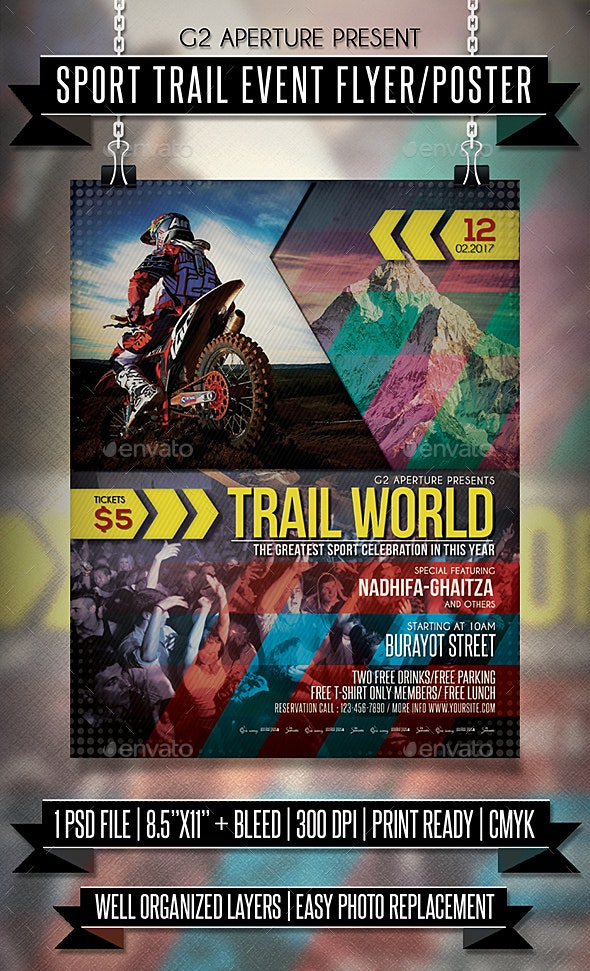 Sport Trail Event Flyer / Poster - Events Flyers