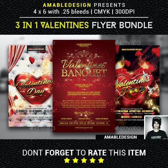 3 in 1 Valentines Flyer Vol.2