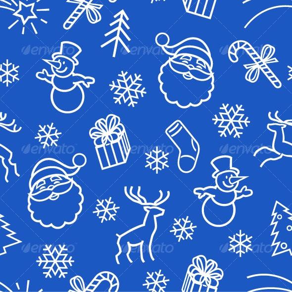Seamless Christmas  Pattern - Patterns Decorative