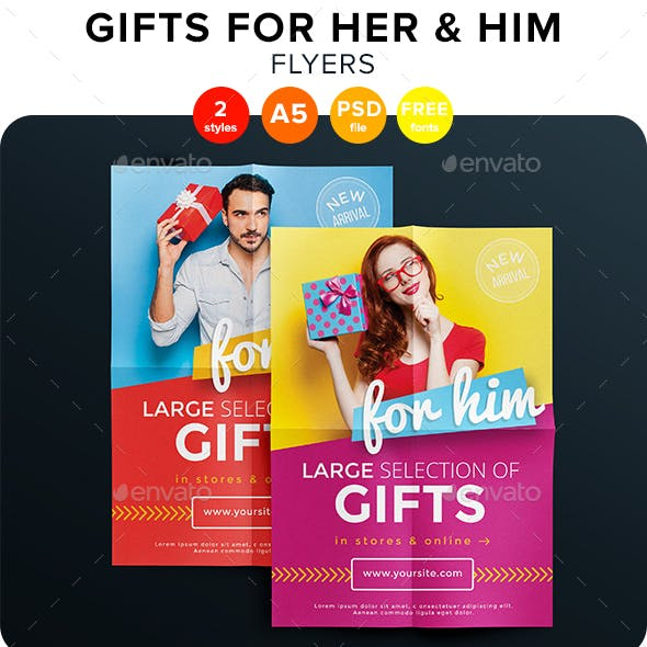 Gifts For Her & Him Flyers