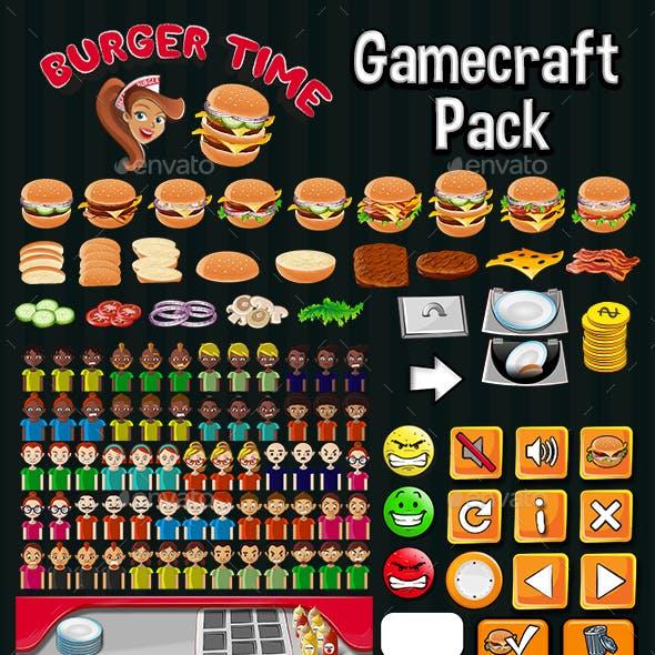Burger Time Game Assets
