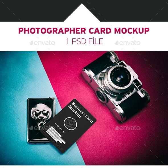 Photographer Card Mockup