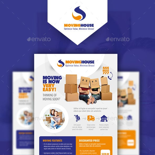 Moving House Flyer Templates