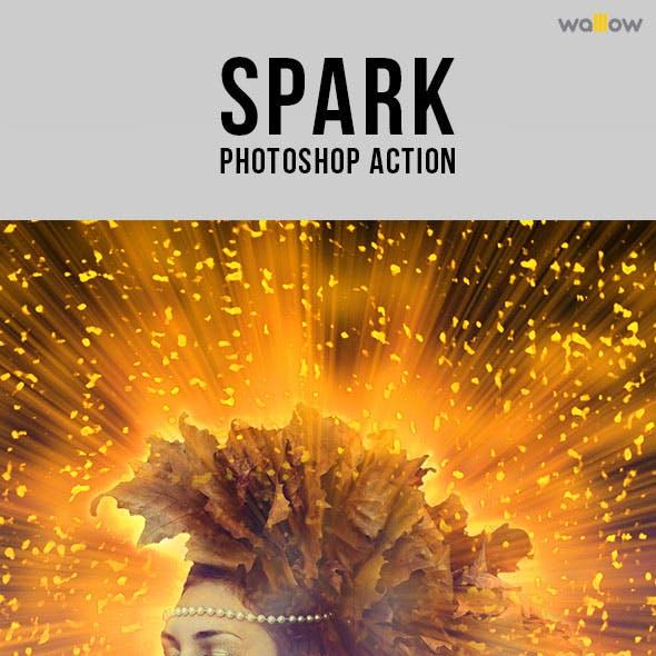 Spark Photoshop Action