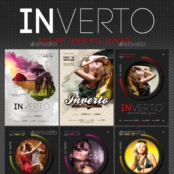 3 Inverto Music Poster Bundle