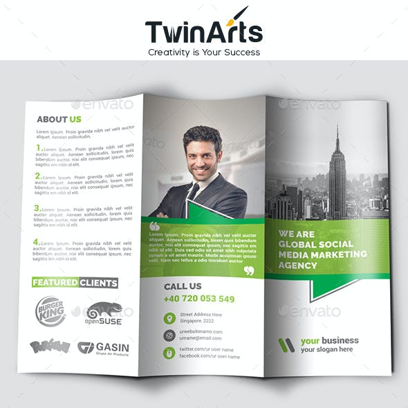 Social Media Marketing Trifold